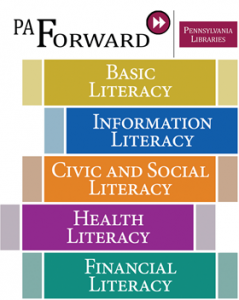 pa forward five literacies logo